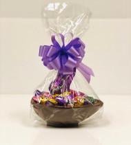 10oz Milk Chocoloate Easter Basket (Purple Bow)