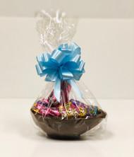 10oz Milk Chocoloate Easter Basket (Blue Bow)