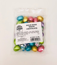 7 oz Solid White Chocolate Eggs