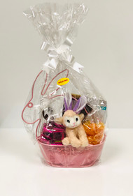 Sugar Free Wired Bunny Shaped Basket (Pink)