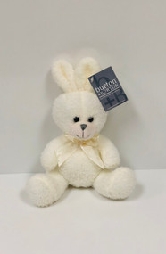 Stuffed Small Sitting Bunny (White)