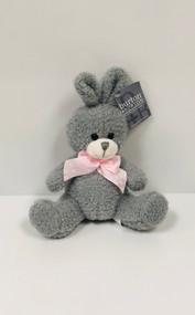 Stuffed Small Sitting Bunny (Grey)
