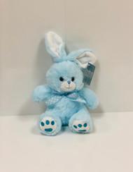 Stuffed Medium Sitting Bunny (Blue)