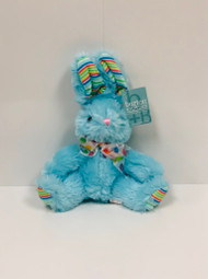 Stuffed Small Rainbow Bunny (Blue)