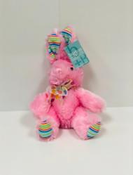 Stuffed Small Rainbow Bunny (Pink)