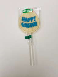 Nut Free Happy Easter Pop White Chocolate (Blue)