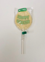 Nut Free Happy Easter Pop White Chocolate (Green)