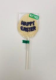 Nut Free Happy Easter Pop White Chocolate (Purple)