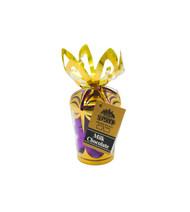 **Purple Hearts - Milk Chocolate in 6 oz. Gold Gift Bouquet**