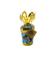 Blue Hearts - Milk Chocolate in 6 oz. Gold Gift Bouquet