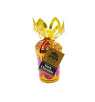 **Pink Hearts - Dark Chocolate in 6 oz. Gold Gift Bouquet**