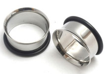 Pair of STEEL TUNNELS gauges- Choose your size 00g-1 inch