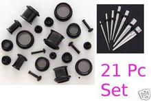 TITANIUM EAR STRETCH KIT Tapers + PLUGS 0g-14g -24pc kit