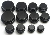 14Pc Black STRETCHING Plugs 00g 1/2 9/16 5/8 3/4 7/8 1 inch gauges