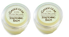 2 Pack Gauge Gear Vegan Organic Ear Stretching Balm Cream Lube Plugs Taper .34oz