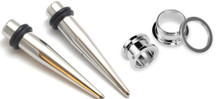 7mm 1g 316l Stainless Steel Tapers and Screw Tunnels Ear Stretching Kit Gauges Plugs