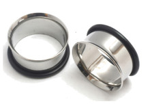 9mm PAIR Single Flare Steel Ear Stretching Tunnels Gauges Plugs