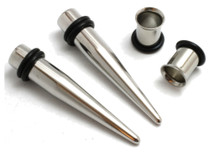 "1/2"" 12mm PAIR Steel Tapers AND Tunnels Ear Stretching Kit"