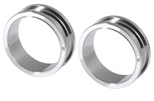 Pair of Steel Screw Ear Tunnels Gauges 28mm 32mm 35mm 38mm 42mm