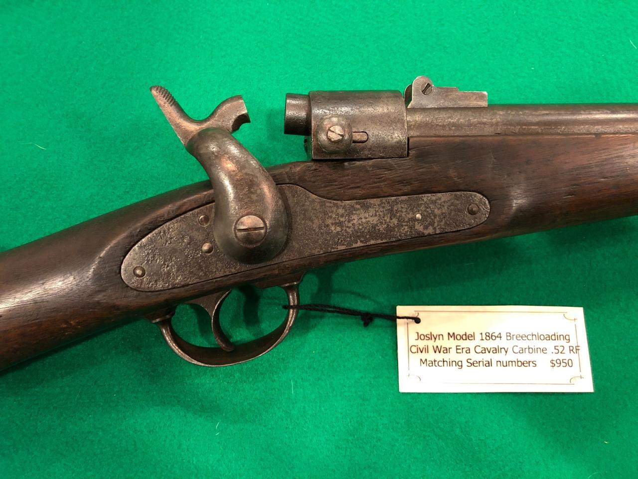 SOLD- Jocelyn model 1864 breech-loading Civil War era Calvary carbine