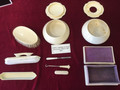 German/Irish cosmetics set made in celluloid (fake Ivory)