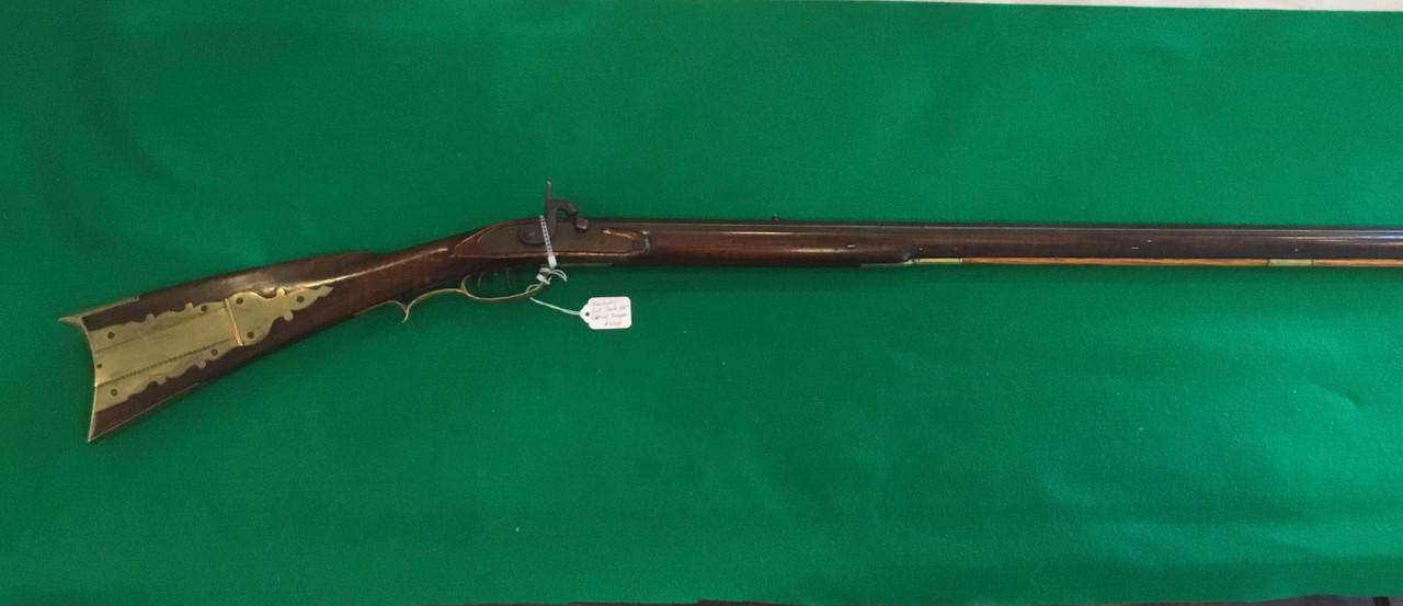 "Kentucky Rifle, full stock, 44"" barrel, double set triggers, percussion"
