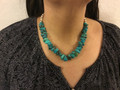 SOLD Turquoise necklace with 36 stones