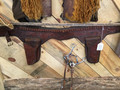 SOLD—Vintage leather twin holster & rig, Hand tooled and stitch belt