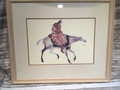 Art print. Native American on horseback