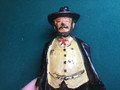 """Metal figure from the 1930s? """" Doc. Adams"""" western doctor? Made of iron"""