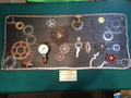 """Gauge  Garden "" steam punk art, recycled bicycle parts, local artist"