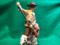 Buffalo Hunter LIONSTONE WHISKY, Decanter figure, made in Japan
