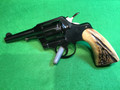 Sold* COLT Official Police .38 with antlers grips made in 1937
