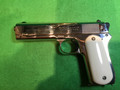 COLT 1903 Pocket Hammer .38 rimless, nickel plated and blued details, very handsome!