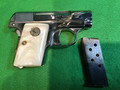 SOLD COLT .25 ACP pocket hammerless pistol M1908 nickel plated well done!