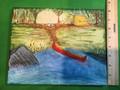 """Big rock, Red canoe campsite"" by local artist P.J. Gracyalny SOLD"