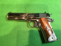 Custom Lew Horton Colt 1911 chambered in .38 Super! Nichol plated beautiful wood & mother of pearl grips