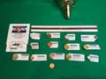 Assorted Railroad buttons, tie tacks and pins
