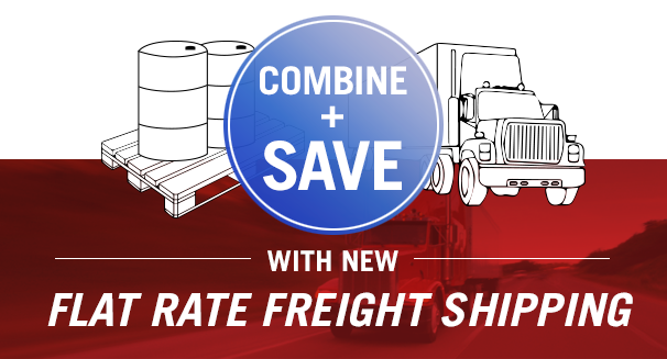Combine and save with new Flat Rate Freight Shipping at PSC