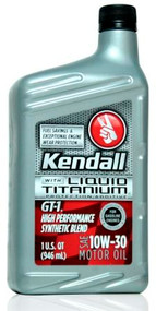 Kendall GT-1 High Performance Synthetic Blend 10w-30   12/1 Qt. Case