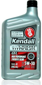 Kendall GT-1 High Performance Synthetic Blend 5w-30 | 12/1 Qt. Case