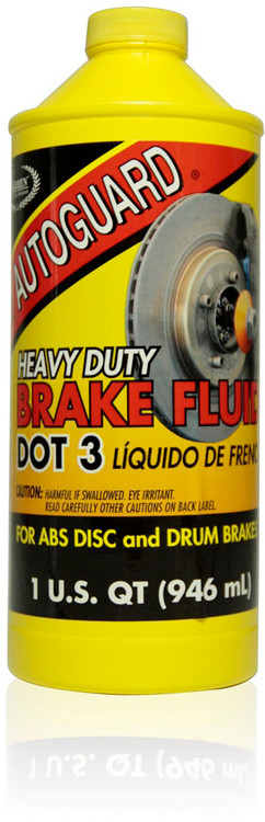Autoguard Heavy Duty Brake Fluid DOT 3 | 12/1 Quart Case