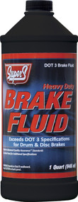 Super S Brake Fluid DOT 3 | 12/32 Ounce Bottles