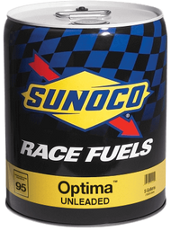Sunoco Optima 95 Octane Race Fuel, 5 Gallon Pail