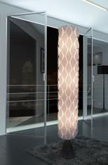 Modern White floor lamp HBK005L-Wisteria Flower's Secret