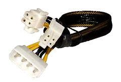 CB-4M-8F 8-pin/P4+P4-pin EPS female , molex 4-pin male, 12in, black sleeved