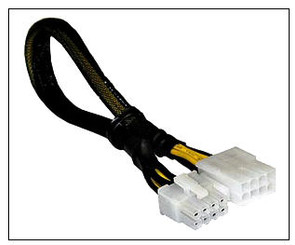 CB-PCIE2-EXT 8pin to 8pin PCI-Express 2.0 Ext Cable, 12inch, Black Sleeved