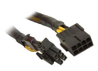 CB-8M-68F (CB-PCIE8-EXT) 8Pin PCI-E (M) to PCI-E 6+2pin (F), Sleeved, 12inch