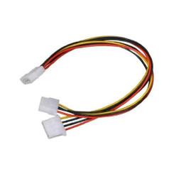 CB-Y24 24inch 4Pin Molex (M) to 2 X 4Pin Molex (F) Y Cable splitter