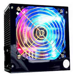 Works W645-SBL 450W ATX Power Supply 3-Color Flashing LED fan 24Pin SATA PCI-EX
